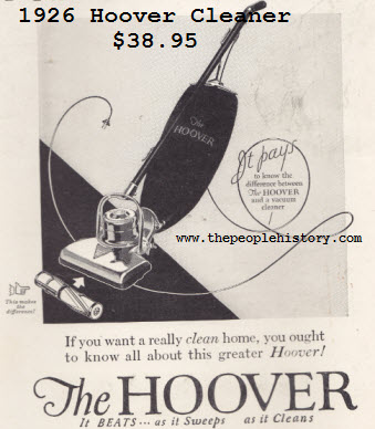 An early model of a Hoover vacuum cleaner. Image © PictureTip.com