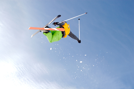 Freestyle skiers jump, twist and somersault to score points. © iStock/Getty Images