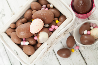 Today most Easter eggs are chocolate, but in olden times were real eggs. ©iStock