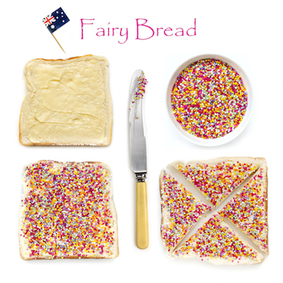 Fairy bread is a must at Australian children's parties!