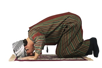 An Indonesian man praying in a mosque. ©iStock
