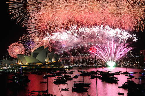 New Year's Eve fireworks in Sydney harbour are famous. Photo ©iStock