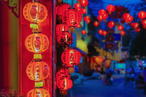 Red lanterns at Chinese New Year.  Photo©iStock