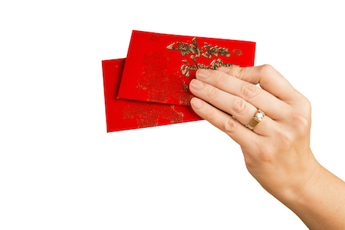 Gifts of money in lucky red envelopes