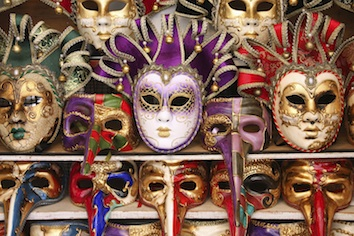 Masks for sale. ©Jupiter Images