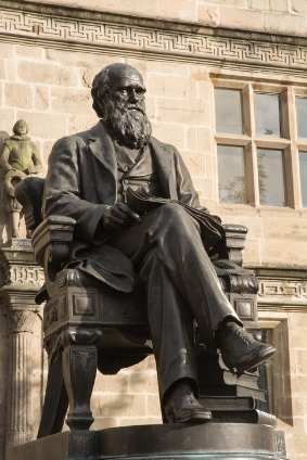 Statue of Charles Darwin, the explorer after whom the city is named. It stands outside the city library. © iStock