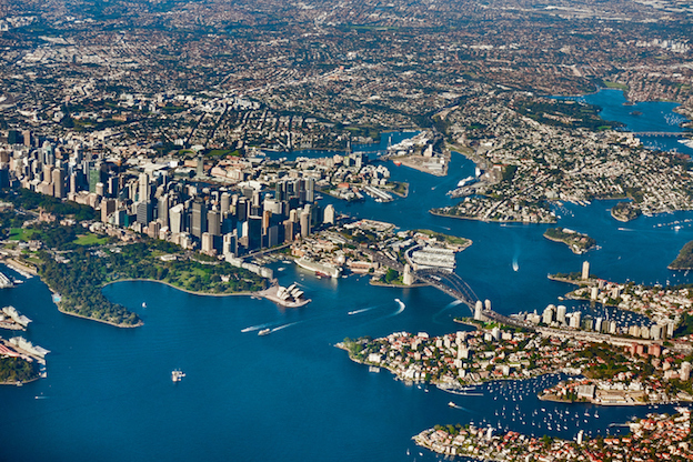 Millions of people live in Sydney and in suburbs around it. Many people live around the Sydney Habour. ©iStock