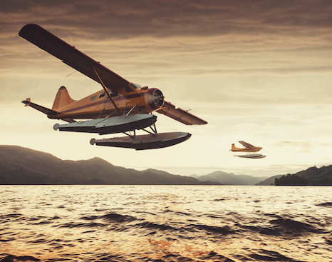 Floats under the sea plane meant that it could land and take off from water ©Stock