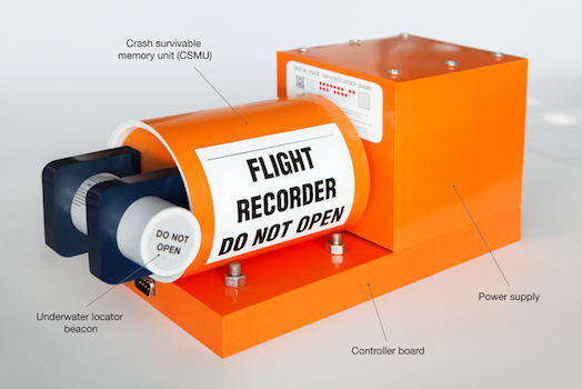 A modern flight data recorder black box © iStock