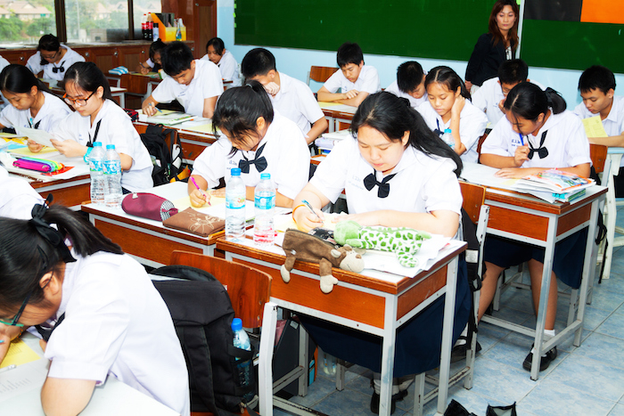 Exam time at a Bangkok school. ©Getty