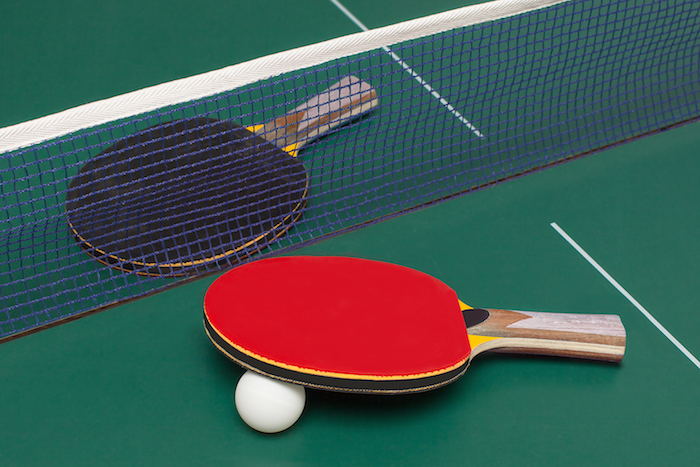 Table tennis equipment. ©Getty