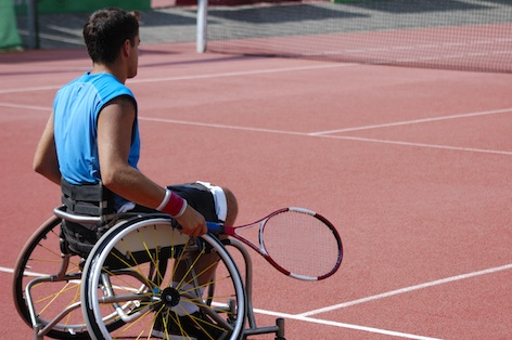 Wheelchair tennis is an event at the Paralympic Summer Games. ©Getty