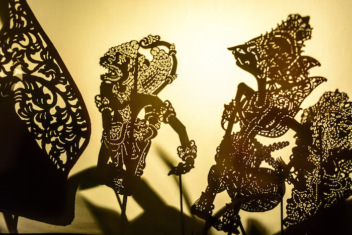 Wayang kulit as seen by the audience. ©Getty