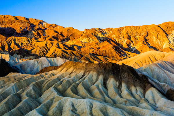 Zabriskie Point in Death Valley, USA. ©Getty
