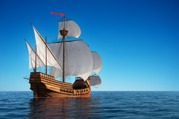 Christopher Columbus sailed in caravels on his voyages from Spain to Americas ©iStock