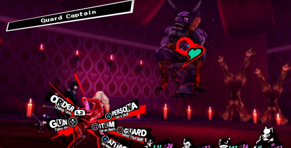 Screenshot from  Persona 5 .