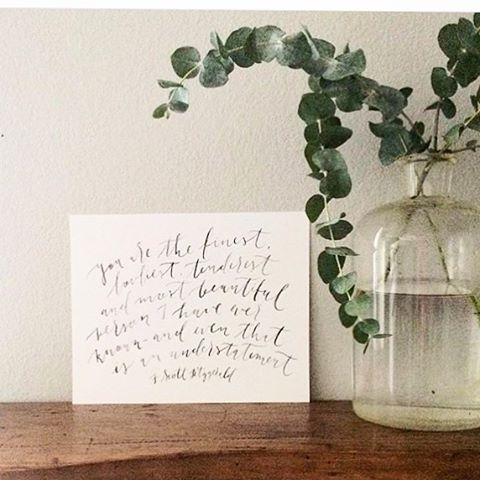Beautiful capture of my F. Scott Fitzgerald print by @lexibridges #vintagefeels