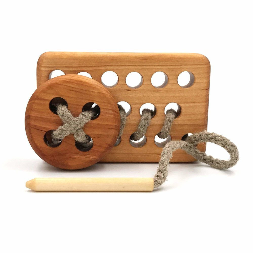 Lacing Toy - Great for fine motor skills development. Fun for all ages.