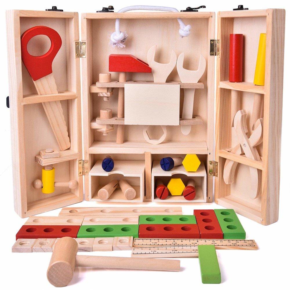 Wooden tool set -