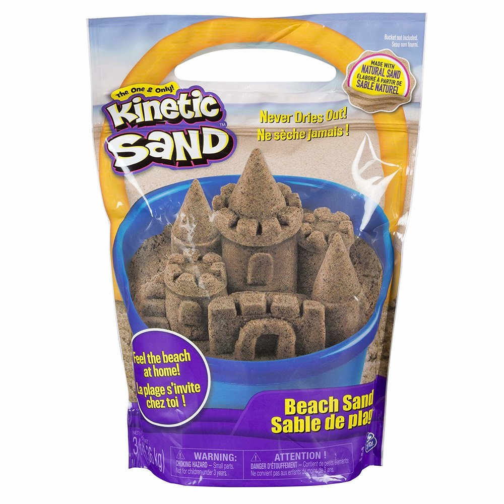 Kinetic sand - You guys know how much I love this stuff. We prefer this over play dough any day - and we're still on our first bag that was purchased over a year ago! We keep it in a mason jar and it feels the same as the day we got it.