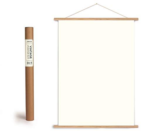 Vintage poster hanging kit -