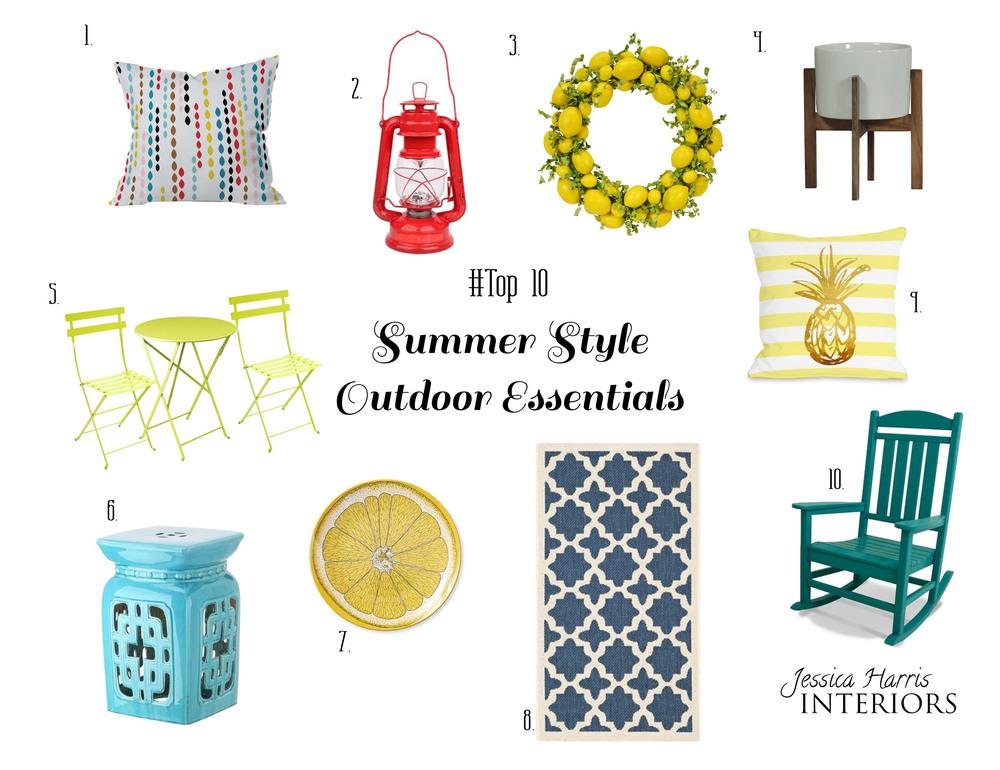 Top 10 Summer Style Outdoor Essentials