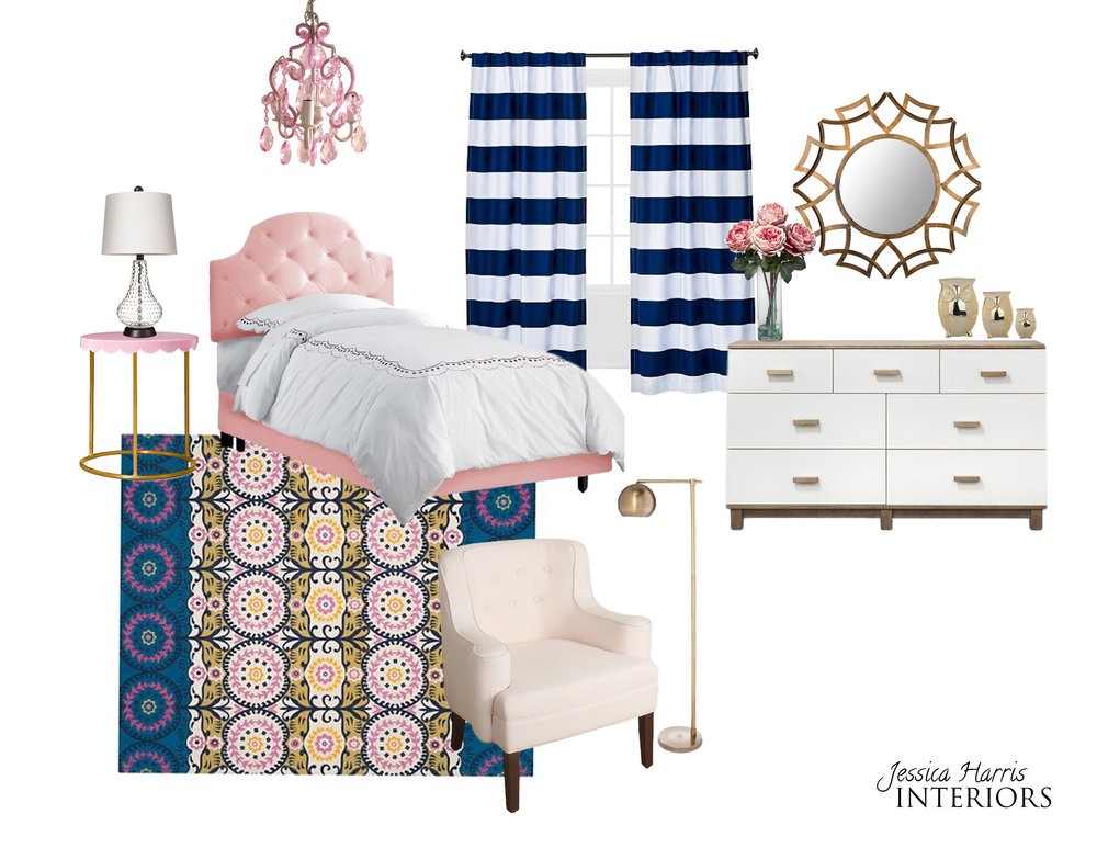 Modern Glam Teen Bedroom