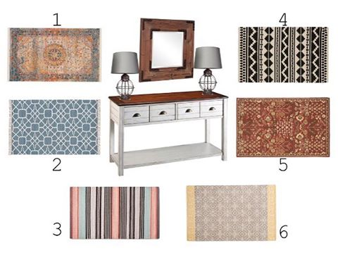 """Alright, it's time for WEEK 4 of """" You Design the Room!"""" Where the room is designed entirely on your votes! For WEEK 4: VOTE for your favorite Rug. To vote tell me your favorite in the comments below! . . . . . #edesign #interiordesign #interiordesigner #entry #rug #homestyling #roominspo #roommakeover #entrywaydecor #arearugs #instadesign #instastyle"""