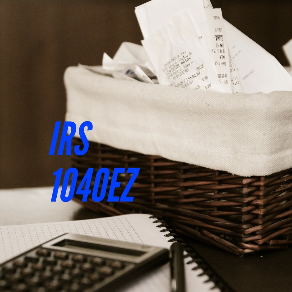 IRS Tax Form 1040ez
