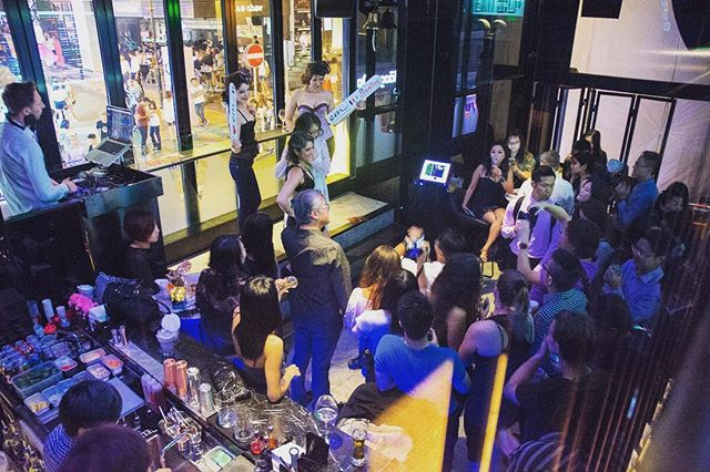 #TBT to @emlingerie Product Launch in #WolfMarket!  #BuyLowDrinkUp #lkf #hongkong