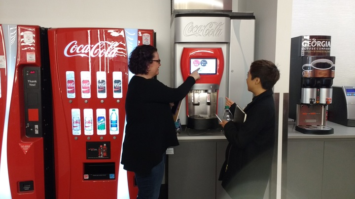"Drawing inspiration from the Coca-Cola Freestyle machine: ""A World of Choices"""
