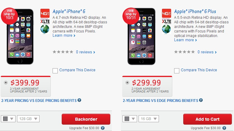 upgrade verizon iphone 5s to iPhone 6 plus + keep unlimited data - choose iphone 6 or iphone 6 plus