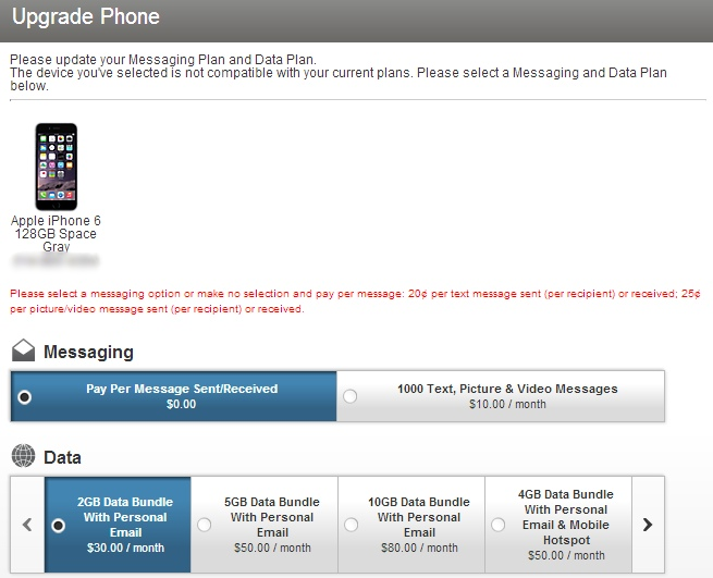 upgrade verizon iphone 5s to iPhone 6 plus + keep unlimited data - select options