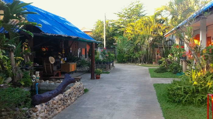 Pai, Thailand - Guesthouse yard with a little fish pond