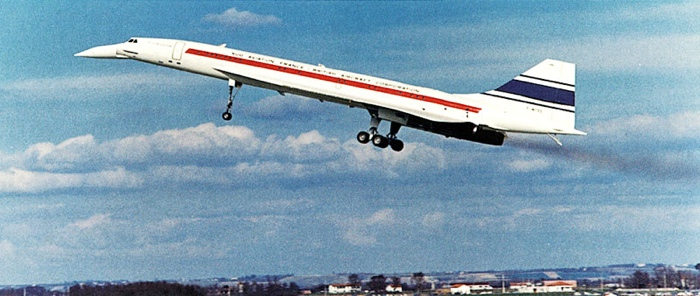 Concorde's first flight (March 2, 1969)
