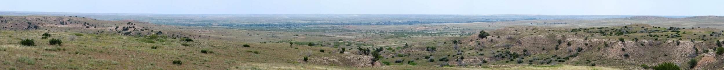 Rolling plains of Texas (bordering with Oklahoma)