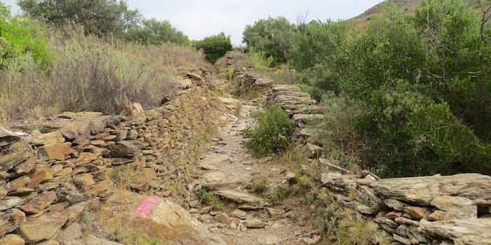 Rocky hike uphill