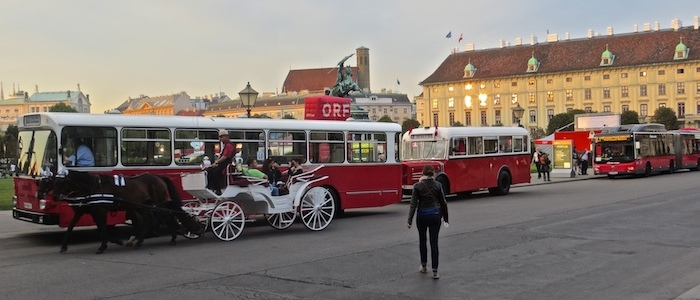 Four generations of Viennese buses