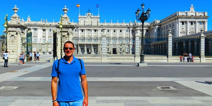 In front of Palacio Real