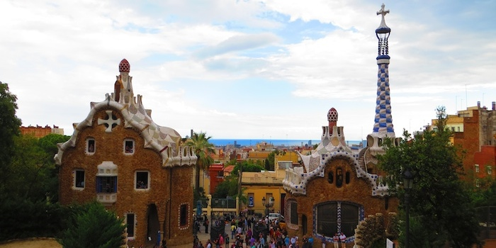 Gingerbread-like houses at Park Güell