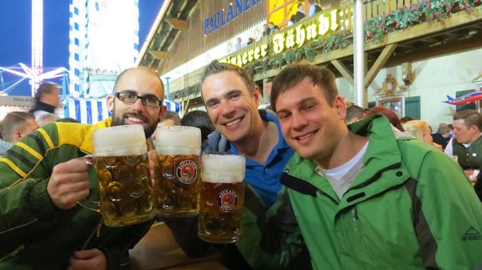 Beer after dinner