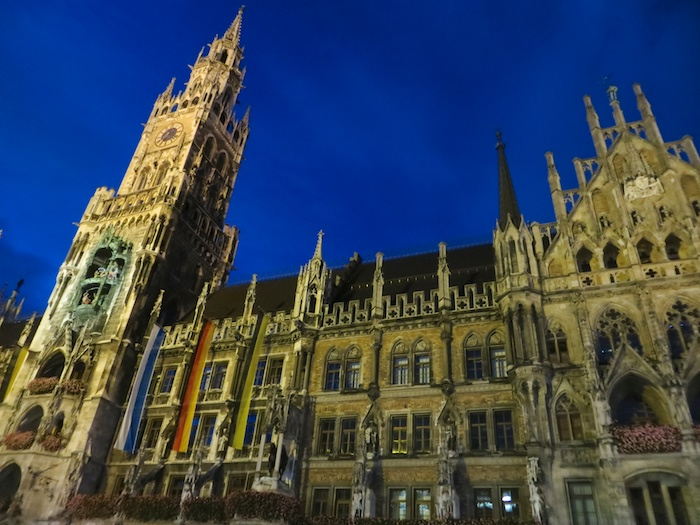 Munich's city hall at Marienplatz