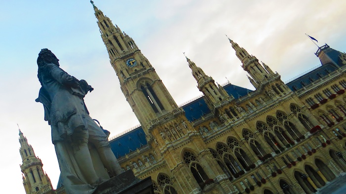 Rathaus (city hall) and one of Habsburg notables