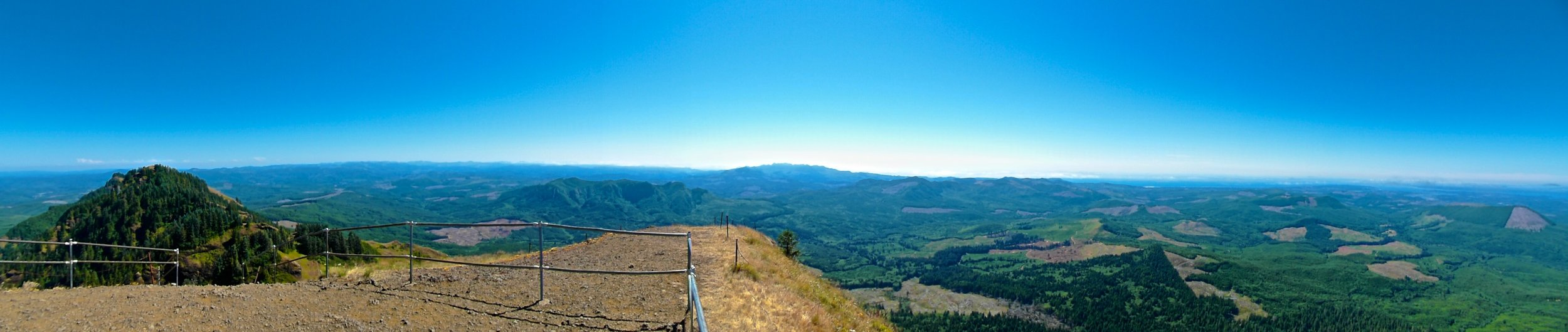 Oregon's coastline from the Saddle mountain