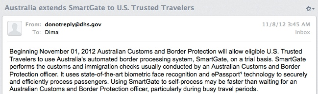Global Entry now useful in Australia