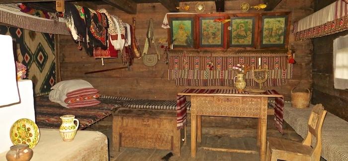 Inside a hunter's house