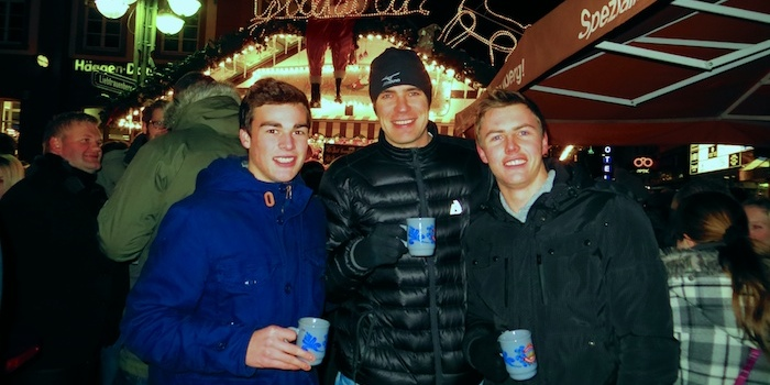Warming up with some glühwein