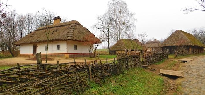 Typical village street for Cherkasy region
