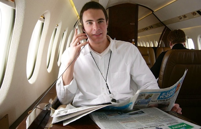 Poster boy for Netjets - I knew I would make a good model even back then!