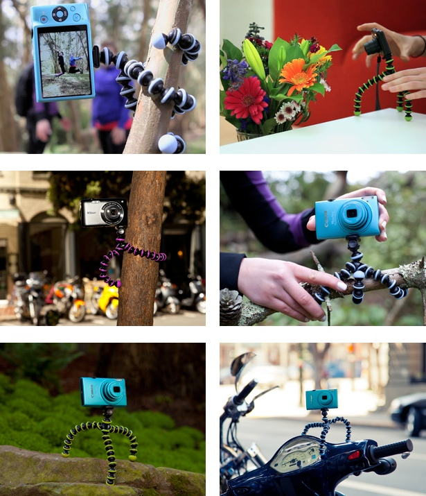 The great many uses of the Joby Gorillapod (images from Joby)